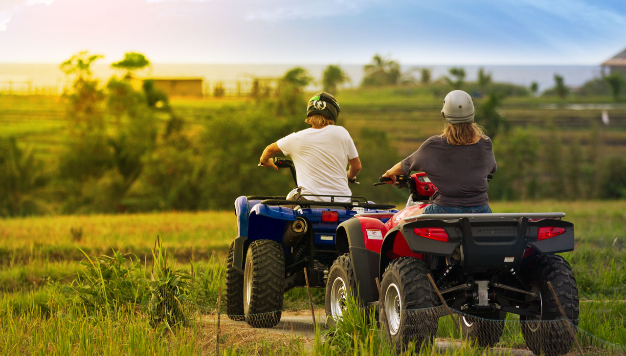 ATV Bali is the most fun on four wheels. ATB Bali rice paddy tours