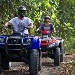Experience lush tropical landscapes on an ATV bali tour.